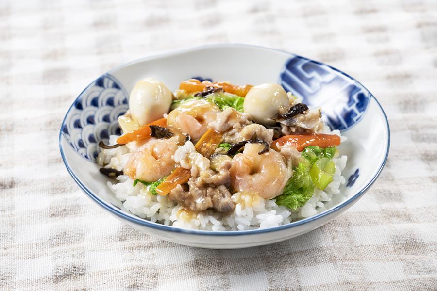 レンジDE中華丼