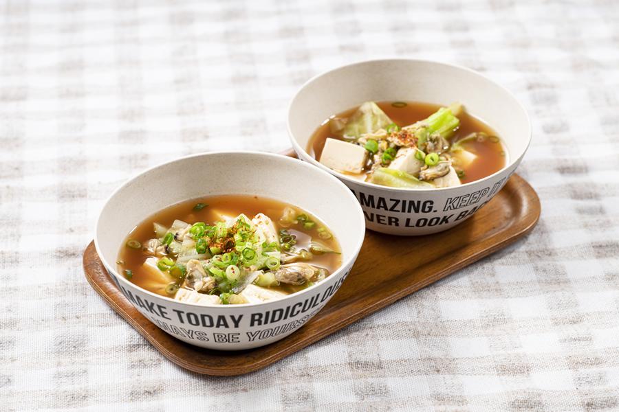 ピリ辛あさりのスープ