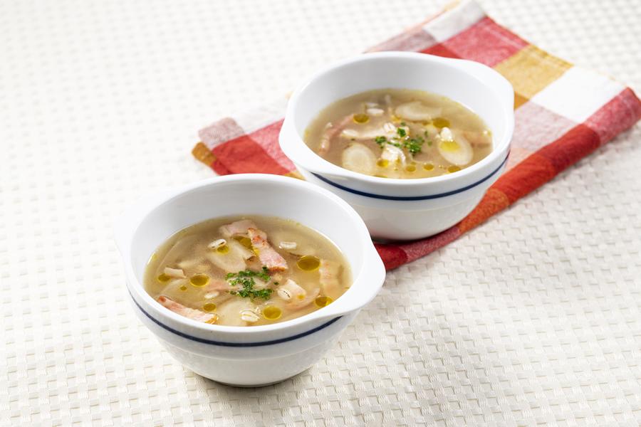 ごぼうと押し麦のスープ
